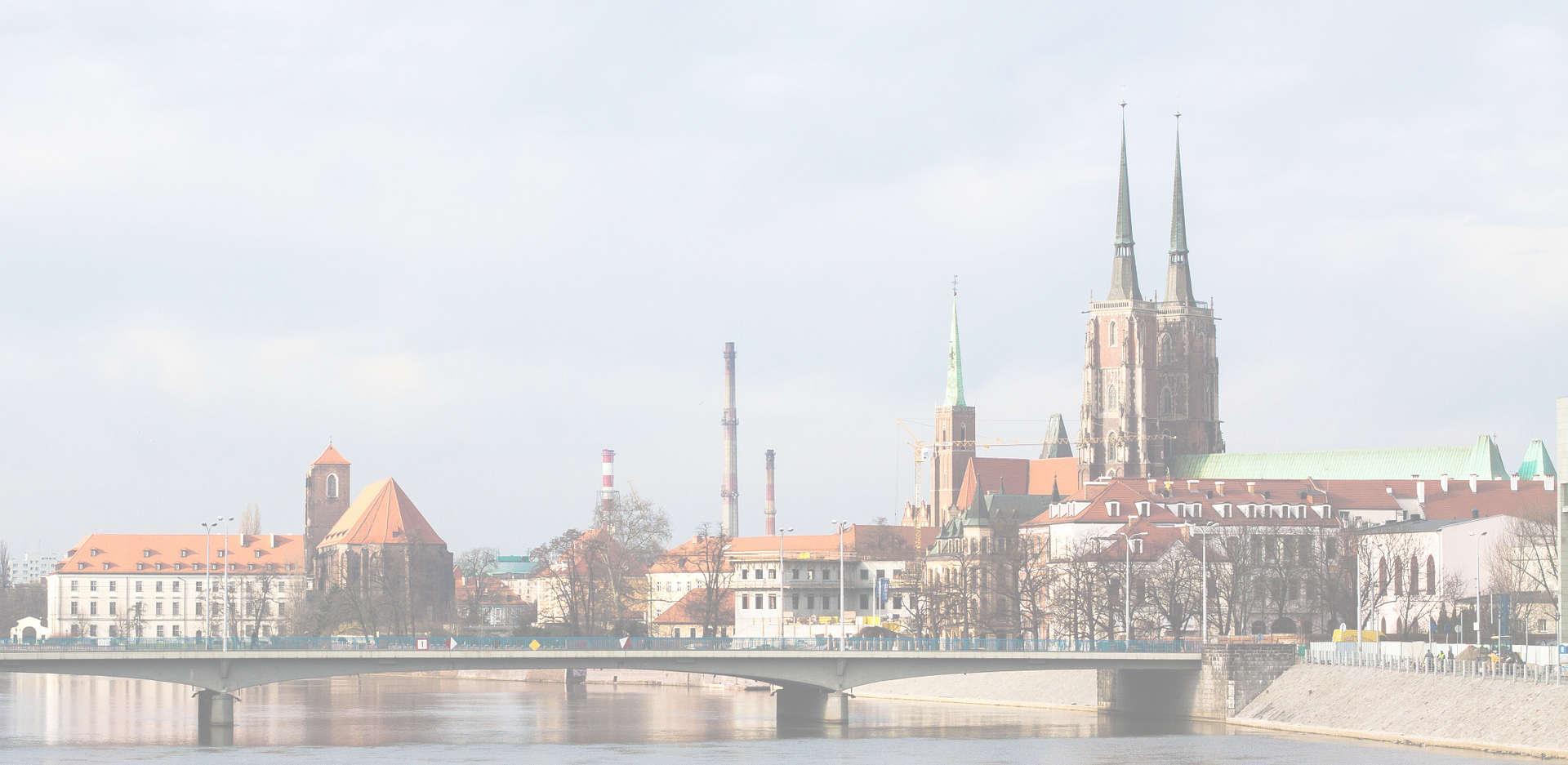 Wrocław - panorama na Ostrów Tumski
